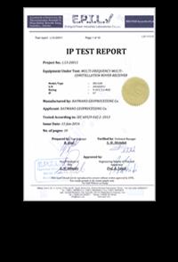 گواهینامه استاندارد IP67 صنایع برق ایران شرکت رایمند