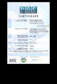 گواهینامه ISO 9001-2008 شرکت مکان پرداز رایمند