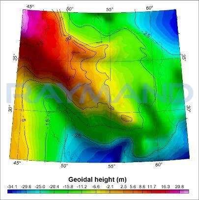 شکل 6: مدل ژئوئید محلی IRG2016